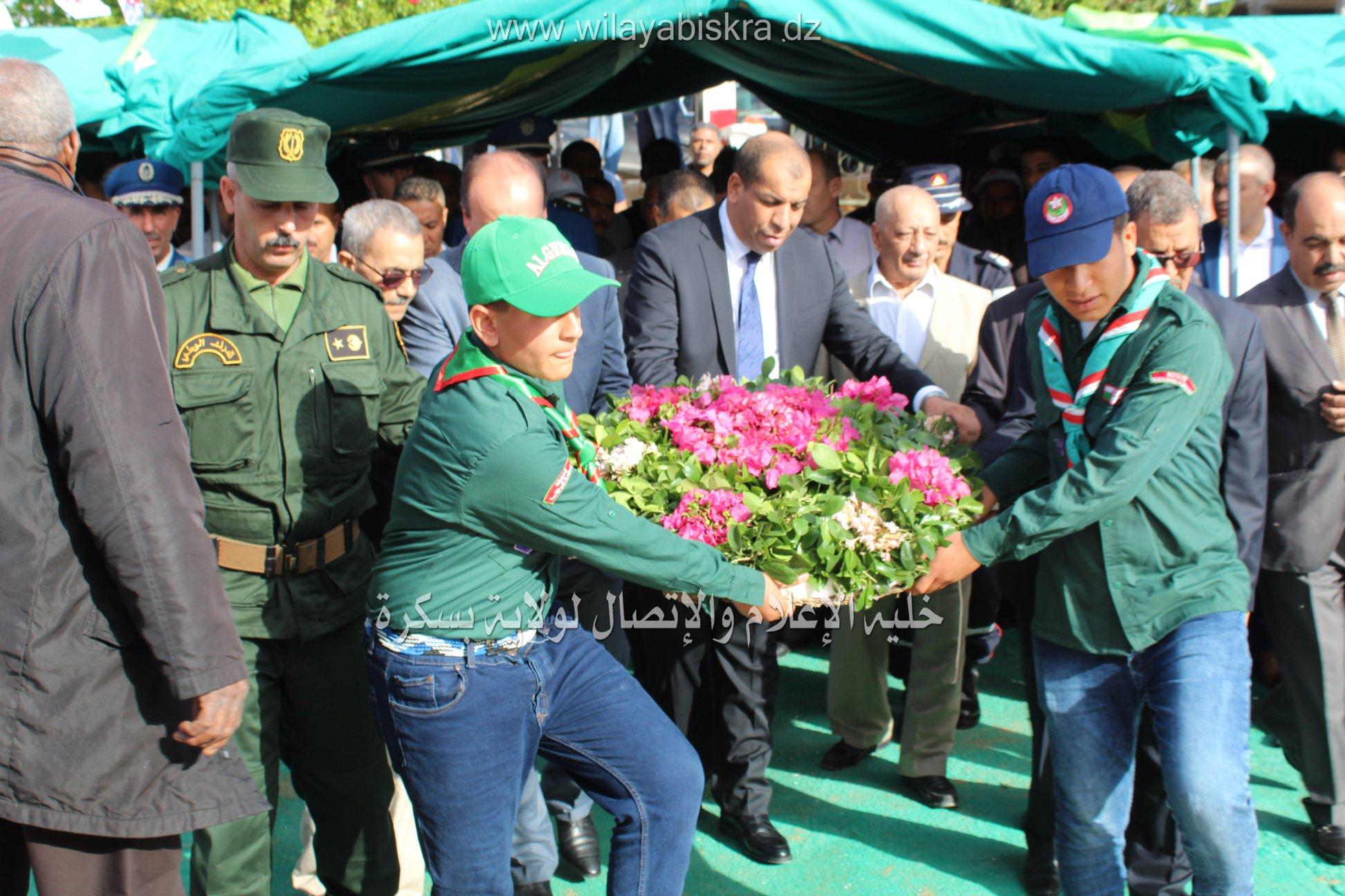 الإحتفالات المخلدة للذكرى السابعة و الخمسون ليوم الهجرة 17 أكتوبر.