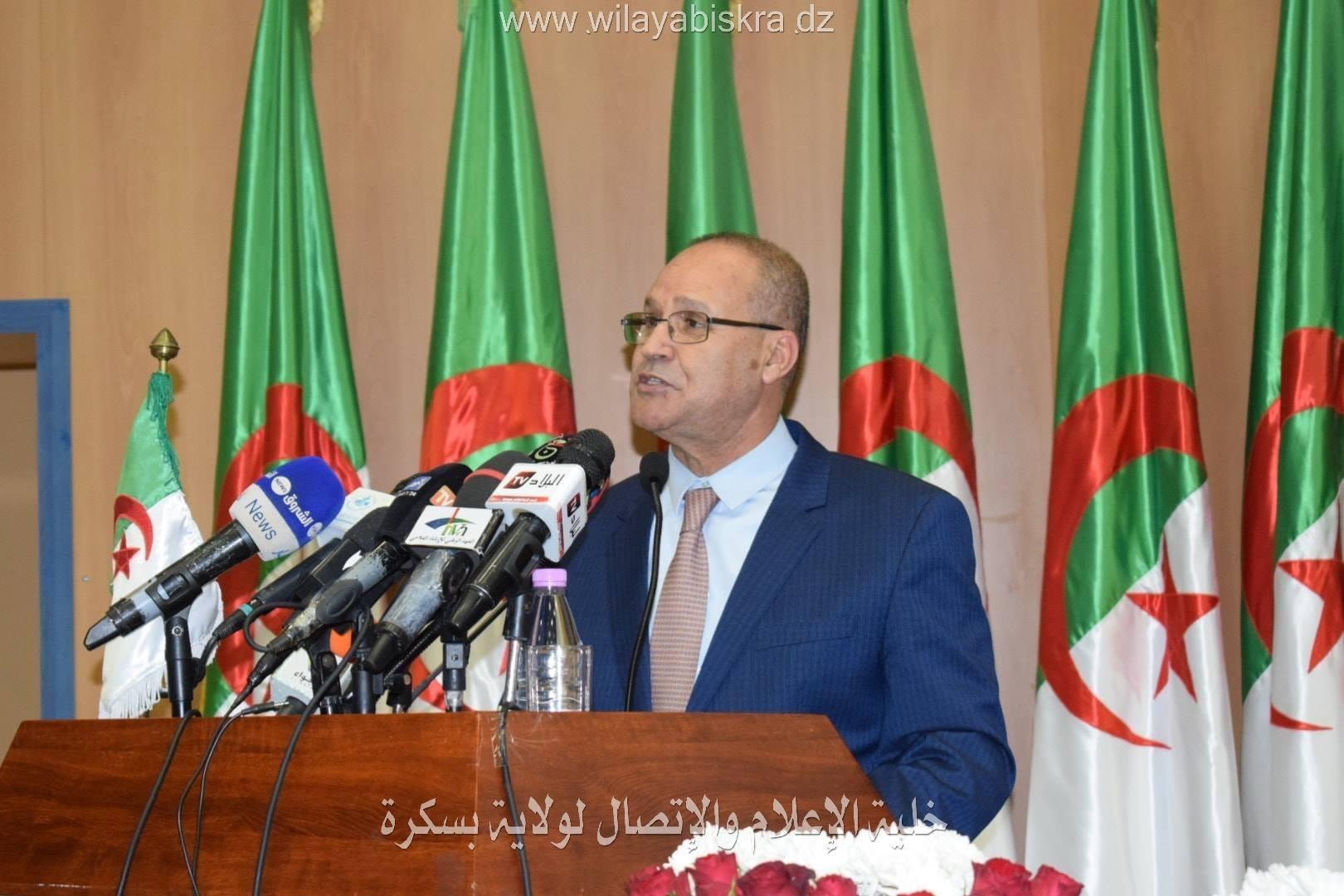 مداخلة السيد عبد القادر بوعزغي،وزير الفلاحة و التنمية الريفية و الصيد البحري