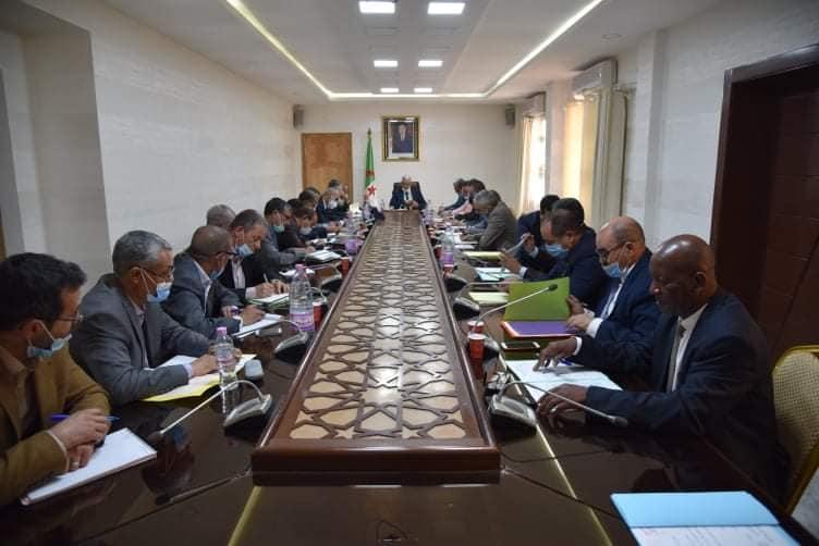 اجتماعا موسعا بخصوص ضبط آخر الترتيبات لاستقبال شهر رمضان الفضيل .